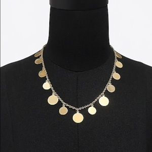NWT J.Crew Golden Disc Charm Necklace